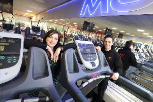 Rachel Warriner of RMT Accountants, who has worked with the business on the project, with Mark Clauzel, of Vision Health & Fitness, at the new Cramlington gym. Picture by Crest Photography.