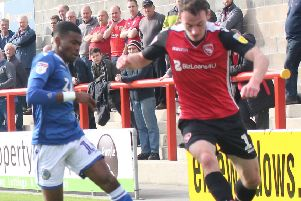 Liam Mandeville was a second-half arrival as Morecambe lost against Lincoln City