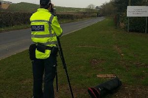 Police caught 17 drivers speeding on Barley Cop Lane, Lancaster, in the space of one hour. Photo: Lancashire Police