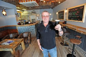 Peter Whaley has opened a new craft beer pub in Heysham called The Bookmakers.