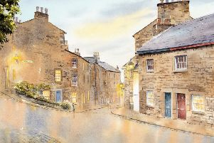 This painting, After The Rain by Colin Pickering, will be raffled during Lancaster Arts Society's exhibition.