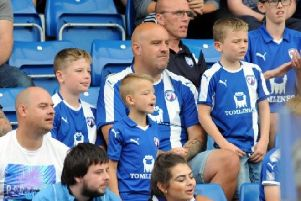 Chesterfield fans at the Proact