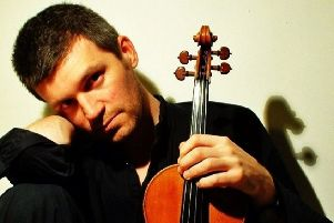 David le Page, who is part of the Pro Musica String Trio.