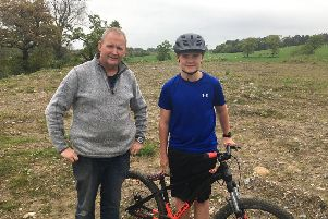 Ian and Alfie Armour at Box Tree Farm in Wennington