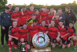 Garstang celebrate winning the 2017/18 West Lancashire League Premier Division title
