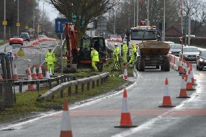 Hutton-bound traffic will be switched to a contraflow on the opposite carriageway.