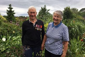 D-day veteran Ted Richardson and wife Doris pictured on the 75th anniversary of D-Day