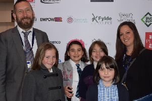 Headteacher Roger Farley with some of his Westminster Primary Academy pupils and teacher Jenny Campbell