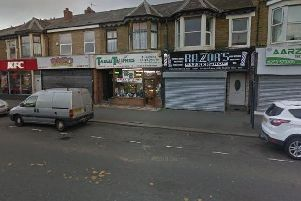 The victim was assaulted outside Razor's barber shop in Lytham Road (Google Street View)