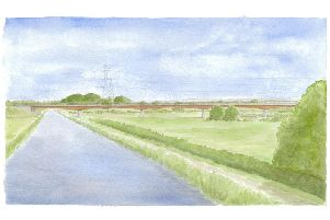 Lea Viaduct crossing the Lancaster Canal (courtesy of Lancashire County Council)