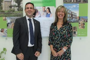John Roocroft and Julie Grimshaw from Persimmon Homes.