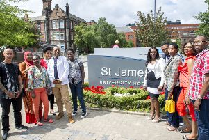 New jobs: Some of the latest intake from the scheme who have been offered roles at St James's.
