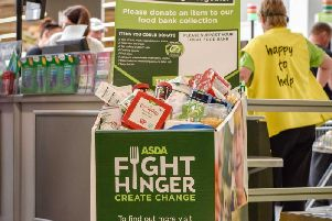 Asda customers in Lancaster have donated 1068.2 Kgs of food to their local food bank