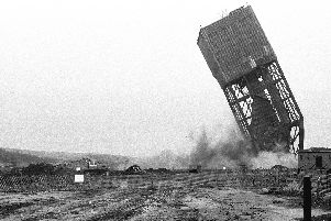 Warsop Main Colliery being demolished in 1989.
