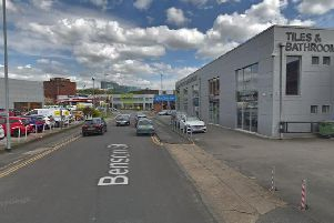 The street on which the crash happened. Did you see anything?