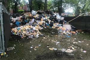 Leftover food and drink from the Leeds Carnival 2019.