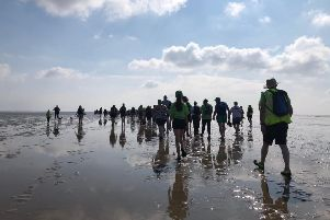 Morecambe Bay walk on bank holiday Monday for Derian House.