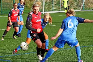 Morecambe Ladies on the attack.