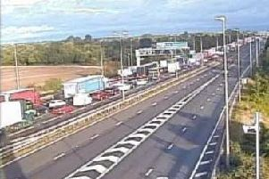The M6 south remains completely shut north of Birmingham, between junctions 13 and 12, after a serious crash overnight