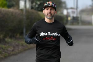 Ultra-runner Andy Day, of Mansfield, who has been training hard for the world-famous Spartathlon in Greece.