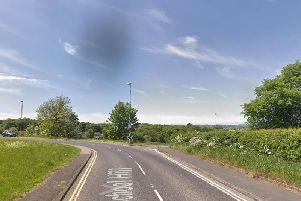 David Foster's car flipped on to its roof  on School Hill, Newmillerdam, Wakefield.'Image: Google