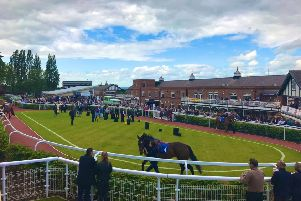 The parade ring at Pontefract Racecourse.
