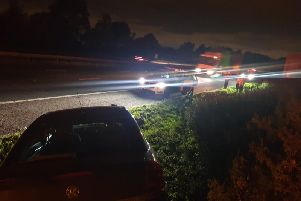 The Vauxhall came off the M1 (pic from WYP)