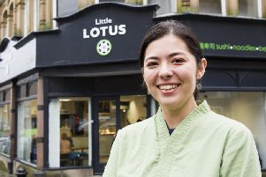 Little Lotus, new sushi restaurant open in Halifax town centre. Photo by Jim Fitton.