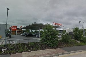 Firefighters investigated the leak at the petrol station. Picture: Google Street View