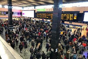 The scene at London Euston today. Picture: David Coates