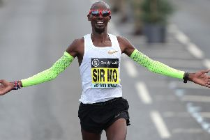 Sir Mo Farah wins the Men's Elite Race during the 2018 Simply Health Great North Run. Pic: Richard Sellers/PA Wire.