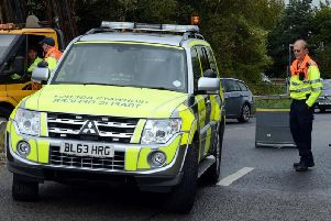 Highways England traffic officers have both front and rear-facing cameras fitted to their vehicles.
