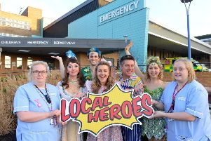 Local Heroes 2 for 1 on Peter Pan panto tickets for local emergency staff. Hospital staff Charlotte Gibson and Gemma Salt (L)
