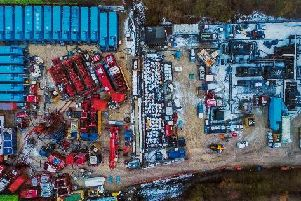 The fracking site at Little Plumpton