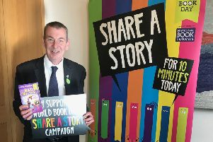 Hartlepool MP Mike Hill promotes the #ShareAStory campaign.