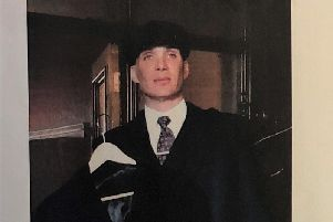 Cillian Murphy's coat and cap will be up for grabs at the ball