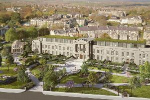 Centre of controversy in Harrogate - How the luxurious plans for Crecent Gardens building and the public space in front of it could turn out.