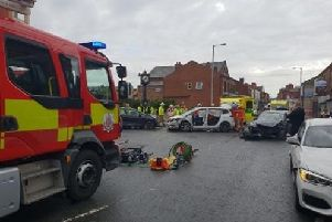 Emergency services were called to the crash