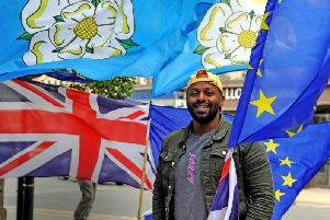 Yorkshire and the Humber MEP Magid Magid during a visit to Harrogate. Pic: Tony Johnson