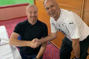 Dave with Burnley FC manager Sean Dyche (left)