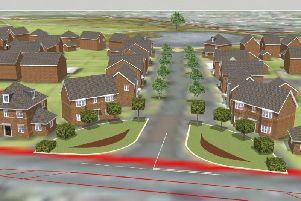 An artist's impression of some of the North Leigh Park homes