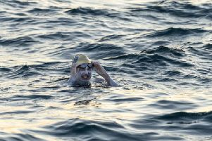 Sarah Thomas, 37, who has become the first person to swim across the English Channel four times in a row. Picture: Jon Washer/PA Wire