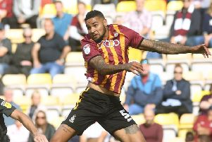 Scored for 'Bradford City in the defeat at Cheltenham Town. (Picture: Jonathan Gawthorpe')