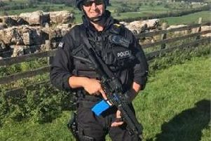 PC Oliver Evans, 27, began his career as a Special Constable with Lancashire Police, before qualifying as a Firearms Officer with Cumbria Constabulary