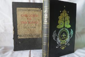 This beautiful copy of Lord of the Rings was produced in 1974