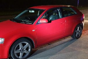 Police stopped this car in Bilsborrow