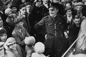 Oswald Mosley on Holbeck Moor in September 1936. Picture: YPN