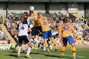 Picture Jez Tighe/AHPIX LTD, Football, Sky Bet League Two, Port Vale v Mansfield Town, Vale Park, Stoke-On-Trent, UK, 21/09/19, K.O 3pm''Mansfield Town players on the attack against Port Vale goal'''Howard Roe>07973739229