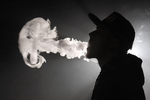 Some 0.8% of people who have never smoked are current vapers