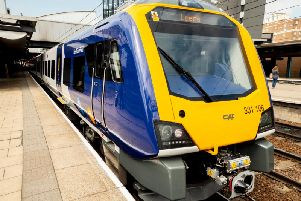 One of Northern's new trains to be seen on the county network